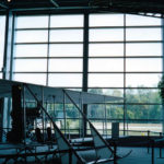 Fully glazed sliding doors - College Park Aerospace Museum, Maryland