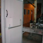 Manually Operated Blast Door with Panic Hardware