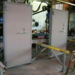 Pair of Single Swing Blast Doors