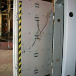 Single Swing Blast Door with Sensing Edge