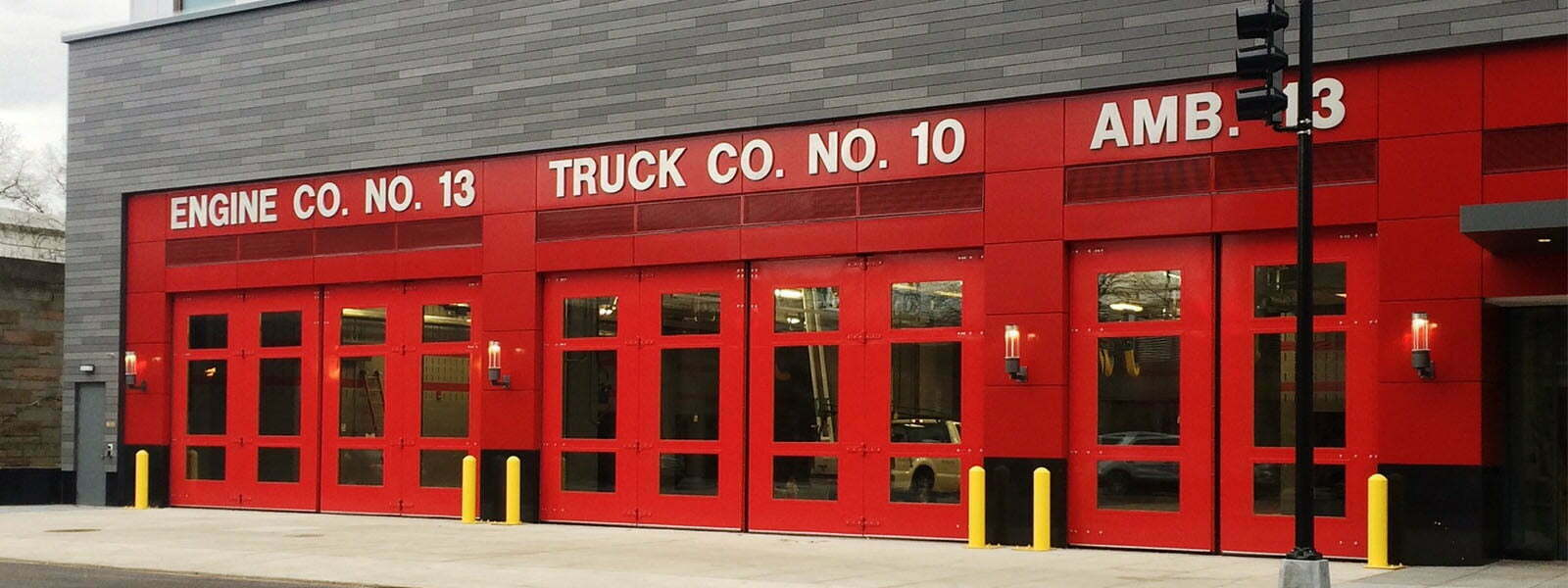 Fire Station Four Fold Doors Electric Power Door
