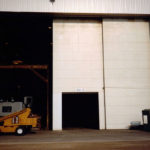 Bottom rolling sliding 4-leaf bi-parting with fabric door - Manitowoc Crane, WI