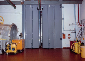 Four Fold Doors on Chlorine Treatment Plant