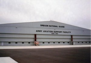 Vertical Lift Doors with Vision Windows and Mandoors on the National Guard in OR