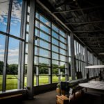 Fully Glazed Sliding Door - College Park Aerospace Museum, Maryland