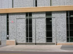 four fold door with special cladding for commercial application